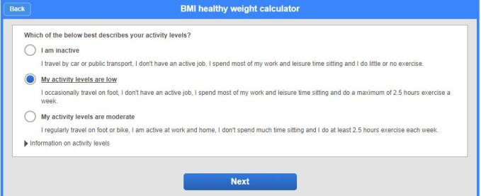 BMI Healthy Weight Calculator 4